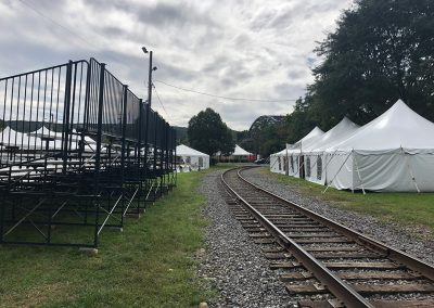 Seating for the annual Highland Games