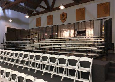 Terraced seating riser for Regional Squash tournament.